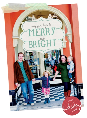 holiday card front